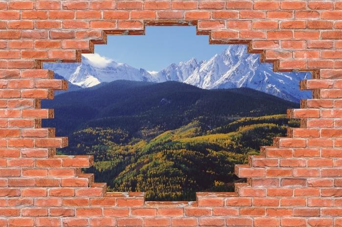Vinyl-Fototapete Loch in der Wand - Wilson Peak. Colorado. - Durchbruch in der Wand