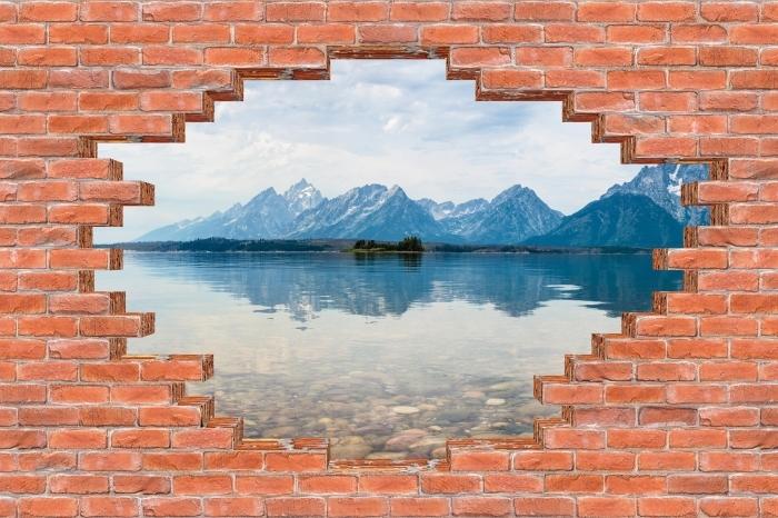 Papier peint vinyle Trou dans le mur - Parc national de Grand Teton - Les trous dans le mur