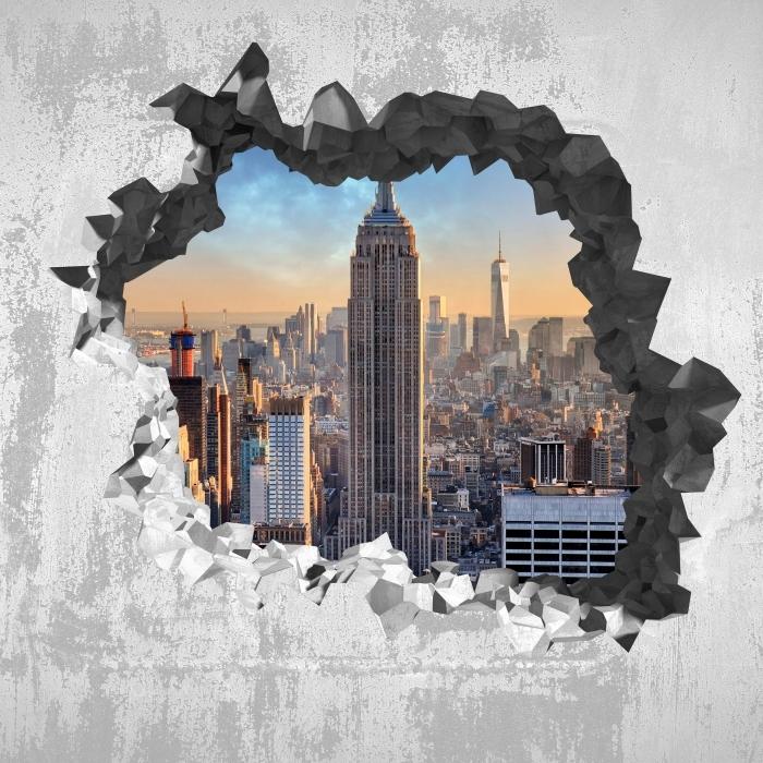 Papier peint vinyle Trou dans le mur - New-York - Les trous dans le mur
