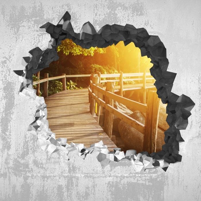 Fototapeta winylowa Dziura w ścianie - Tajlandia - Dziury w ścianie