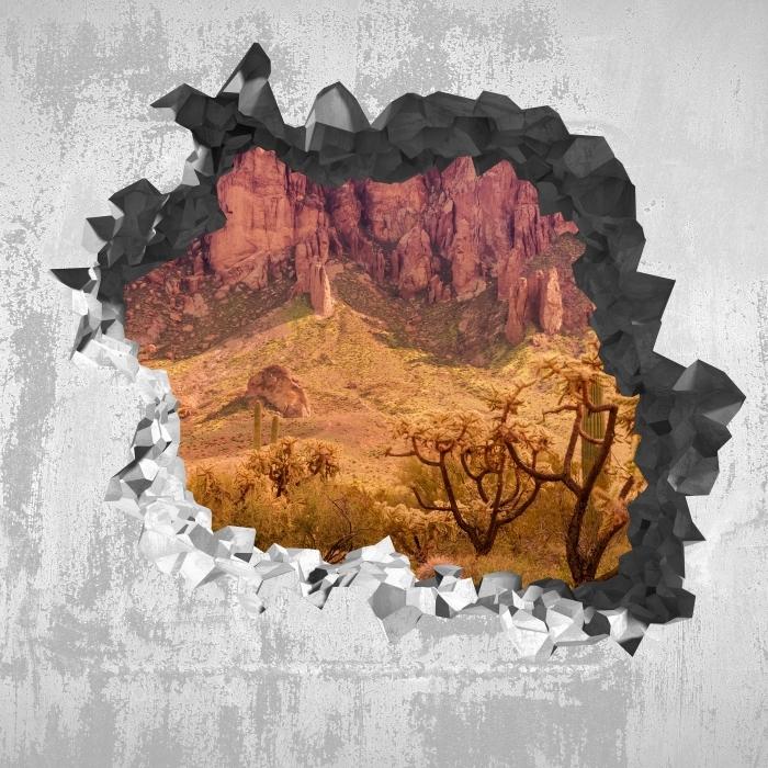 Papier peint vinyle Trou dans le mur - Arizona - Les trous dans le mur