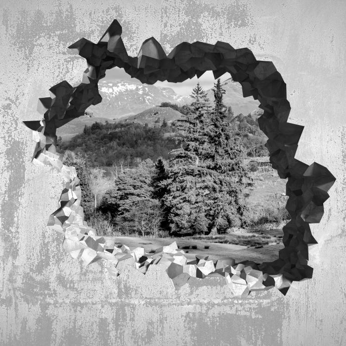 Fototapeta winylowa Dziura w ścianie - Lake District - Dziury w ścianie