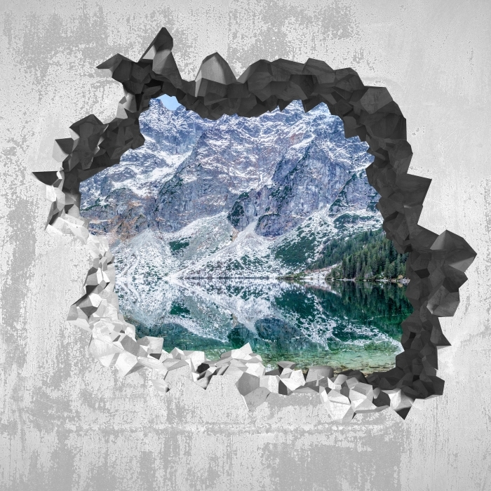 Vinyl-Fototapete Loch in der Wand - Sea Eye - Durchbruch in der Wand