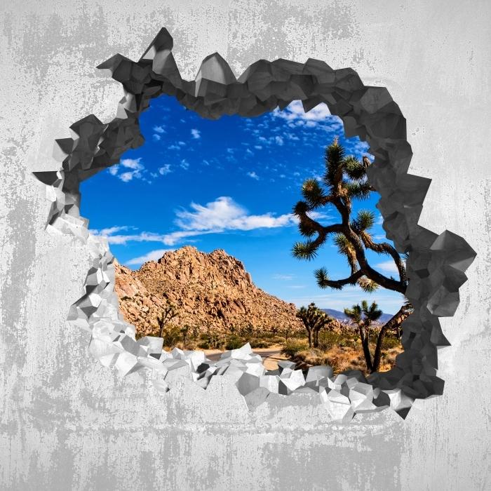 Papier peint vinyle Trou dans le mur - Parc national en Californie - Les trous dans le mur