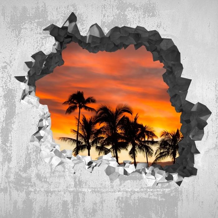 Fototapeta winylowa Dziura w ścianie - Hawaje - Dziury w ścianie