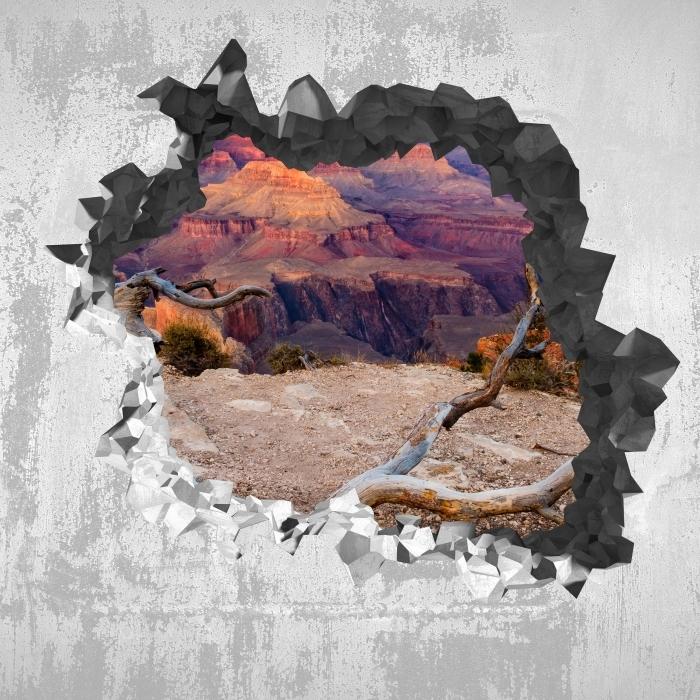 Vinyl-Fototapete Loch in der Wand - Grand Canyon - Durchbruch in der Wand