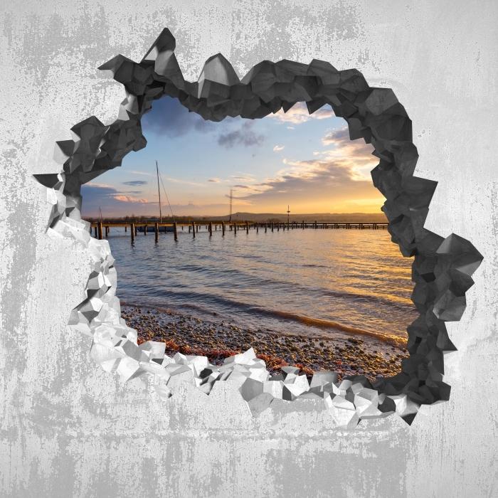 Vinyl-Fototapete Loch in der Wand - Mara - Durchbruch in der Wand