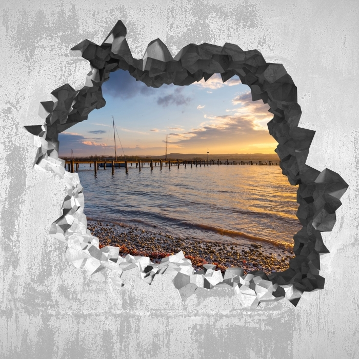 Reikä seinään - Mara Vinyyli valokuvatapetti - Reikää seinään