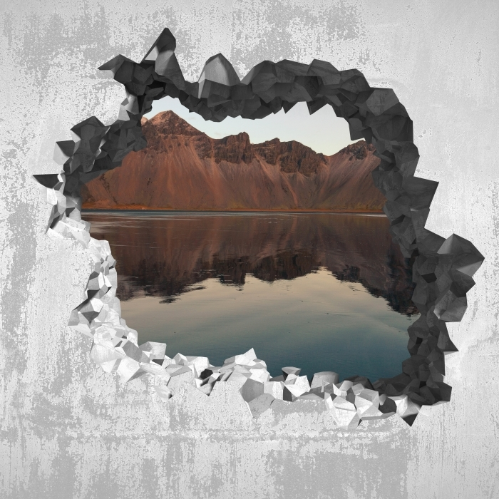 Hole in the wall - Island Vinyl Wall Mural - Holes in the wall