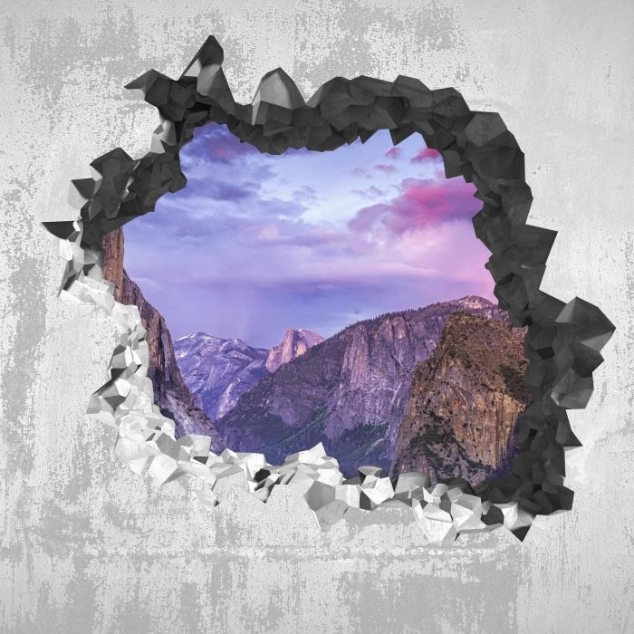 Vinyl-Fototapete Loch in der Wand - Yosemite Nationalpark - Durchbruch in der Wand