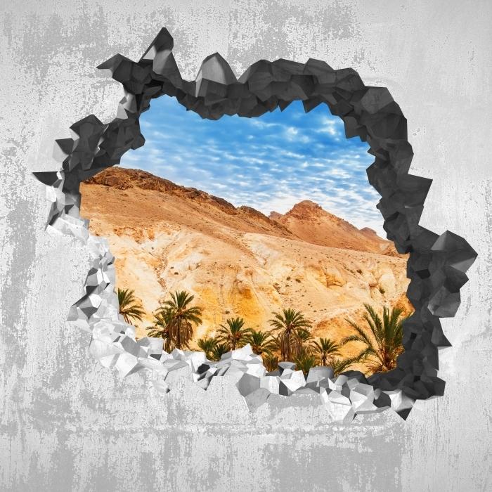 Papier peint vinyle Trou dans le mur - oasis de montagne - Les trous dans le mur