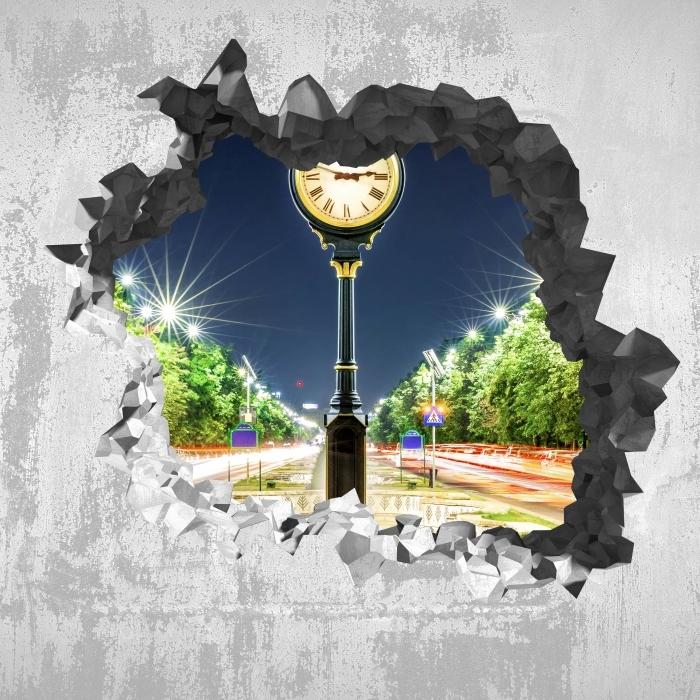 Vinyl-Fototapete Loch in der Wand - Bukarest. Rumänien. - Durchbruch in der Wand
