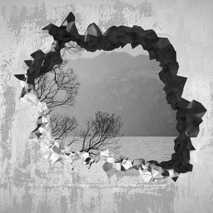 Papier peint vinyle Trou dans le mur - Paysage. nouvelle-Zélande - Les trous dans le mur