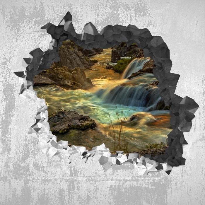 Reikä seinään - vesiputous Vinyyli valokuvatapetti - Reikää seinään