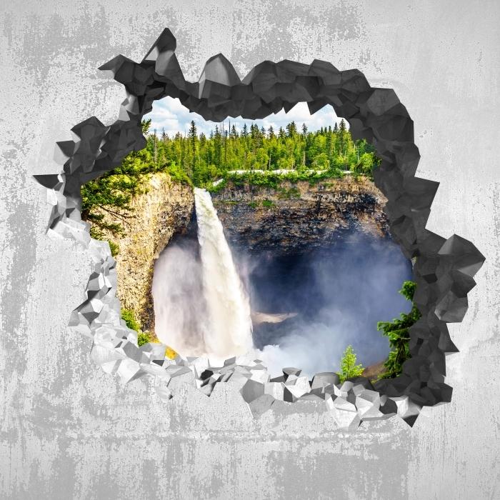 Vinyl-Fototapete Loch in der Wand - in den Bergen. Kanada. - Durchbruch in der Wand