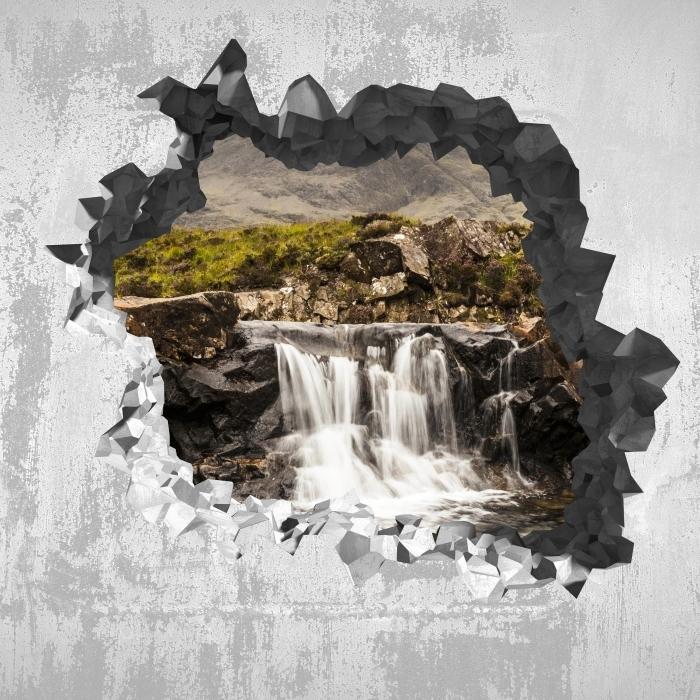 Papier peint vinyle Trou dans le mur - piscines de fées - Les trous dans le mur