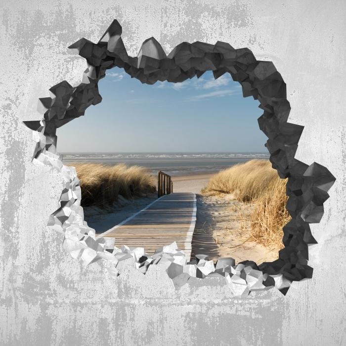 Fototapeta winylowa Dziura w ścianie - Nordsee Strand auf Langeoog - Dziury w ścianie