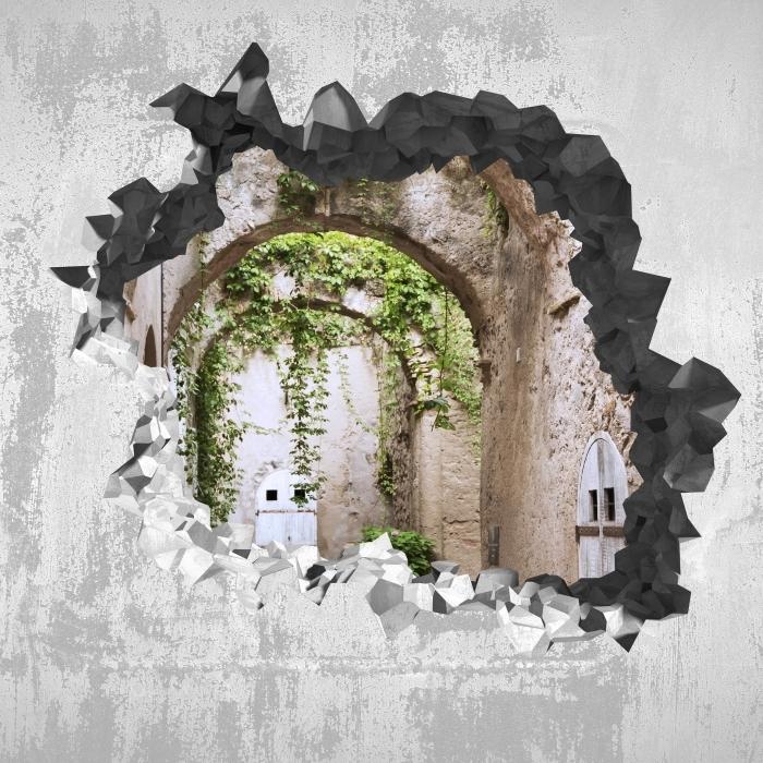 Fototapeta winylowa Dziura w ścianie - Arkada - Dziury w ścianie