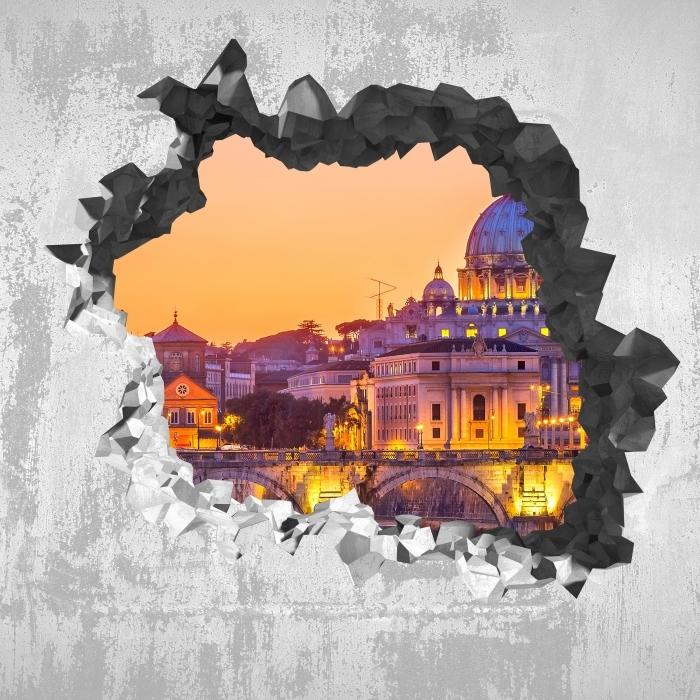 Reikä seinään - Pyhän Pietarin. Rooma Vinyyli valokuvatapetti - Reikää seinään
