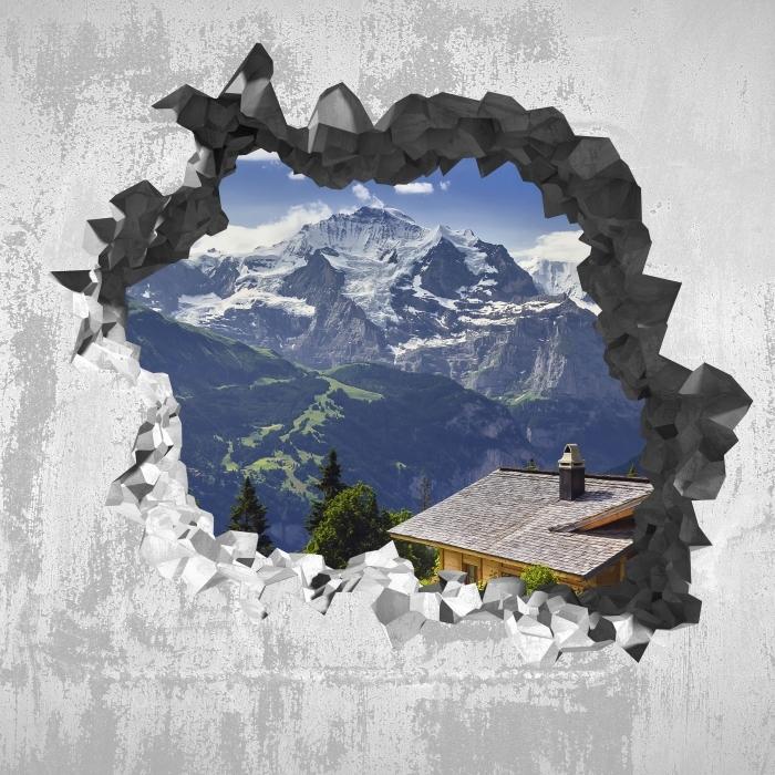 Papier peint vinyle Trou dans le mur - Montagne - Les trous dans le mur