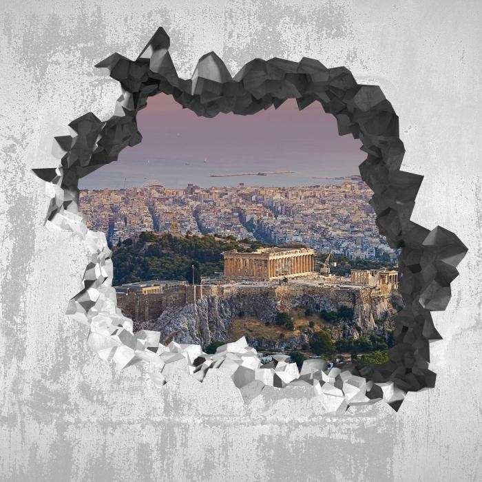 Papier peint vinyle Trou dans le mur - Parthénon. Grèce - Les trous dans le mur