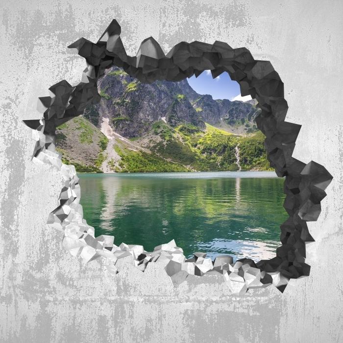 Carta da Parati in Vinile Buco nel muro - Tatry - Buchi nel muro