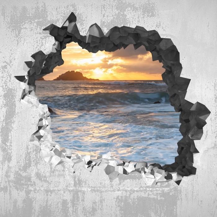 Vinyl-Fototapete Loch in der Wand - Vereinigtes Königreich - Durchbruch in der Wand