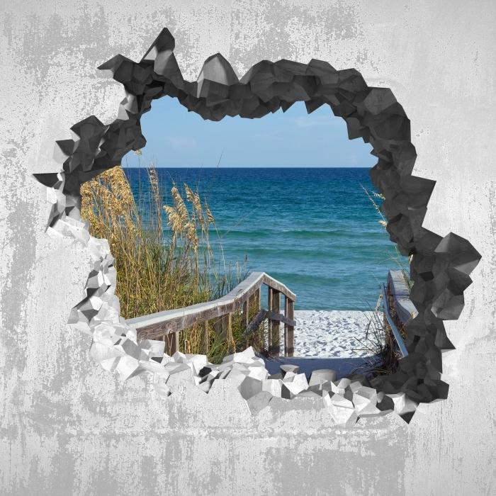 Fototapeta winylowa Dziura w ścianie - Wydmy - Dziury w ścianie