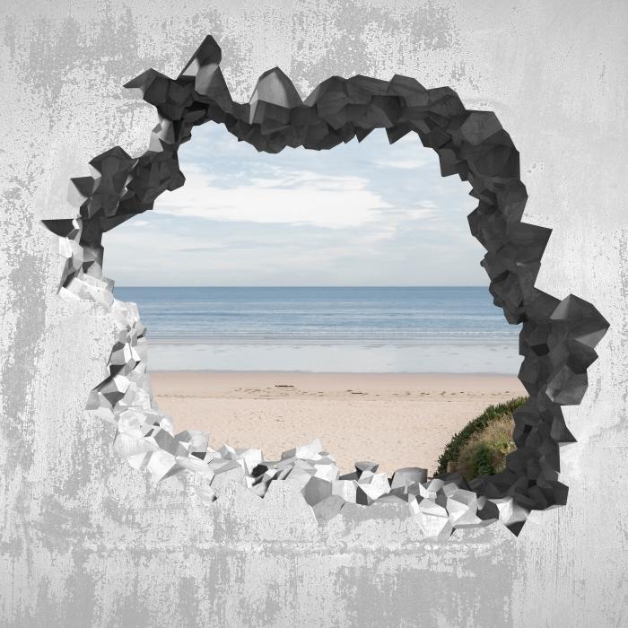 Papier peint vinyle Trou dans le mur - plage et mer - Les trous dans le mur