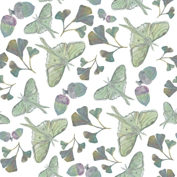 Green butterflies - Tatiana Poster - Contemporary artists