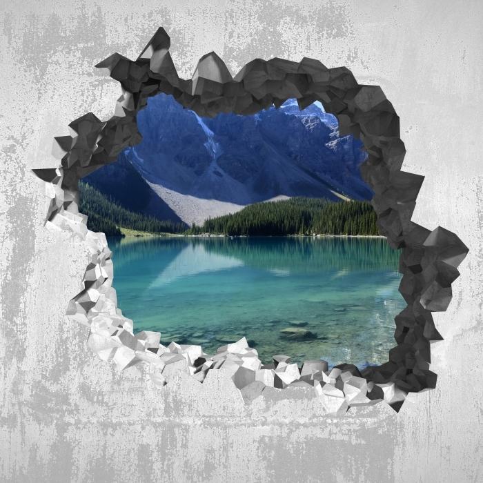 Fototapeta winylowa Dziura w ścianie - Letni poranek - Dziury w ścianie