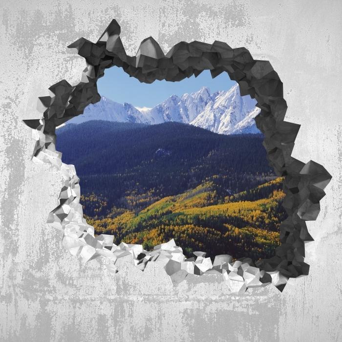 Fotomural Estándar Agujero en la pared - Wilson Pico. Colorado. - Agujeros en la pared