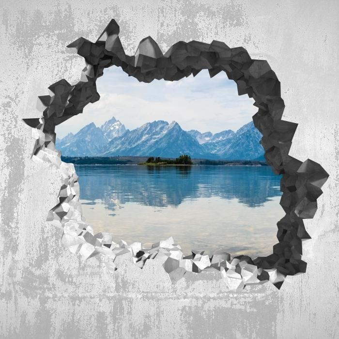 Fototapeta winylowa Dziura w ścianie - Park Narodowy Grand Teton - Dziury w ścianie