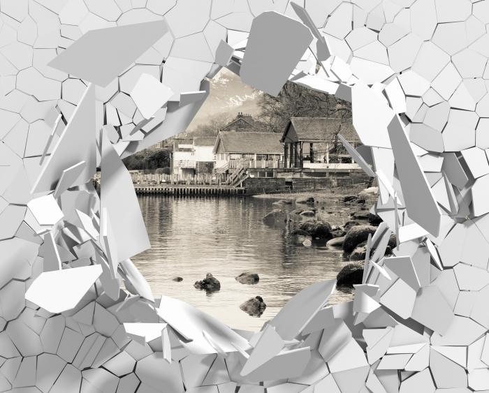 Papier peint vinyle Trou dans le mur - Lake District - Les trous dans le mur