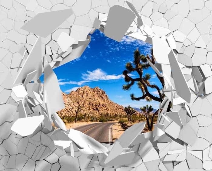 Fototapeta winylowa Dziura w ścianie - Park Narodowy w Kalifornii - Dziury w ścianie