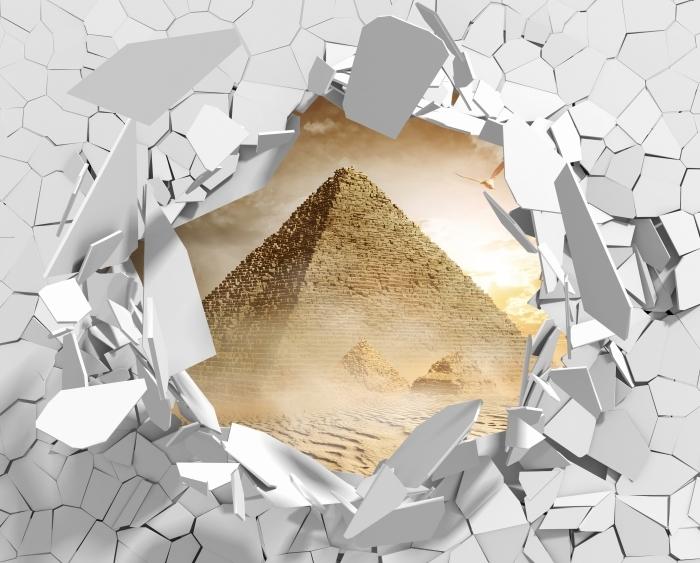 Fototapeta winylowa Dziura w ścianie - Pustynia - Dziury w ścianie