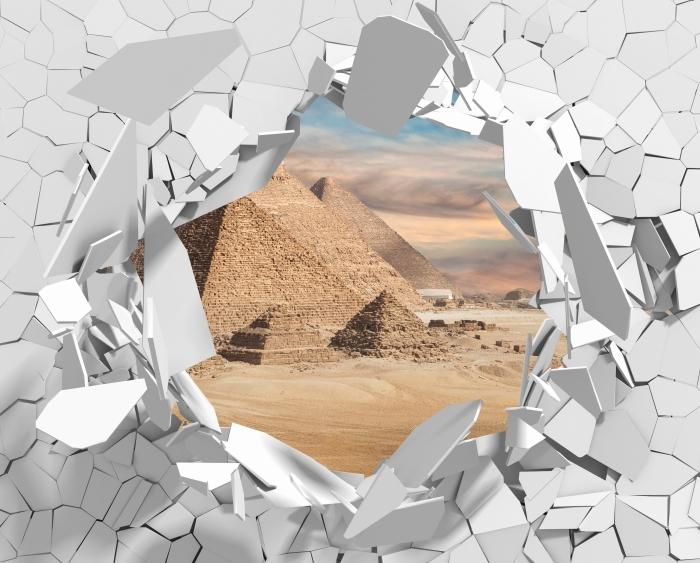 Fototapeta winylowa Dziura w ścianie - Egipt - Dziury w ścianie