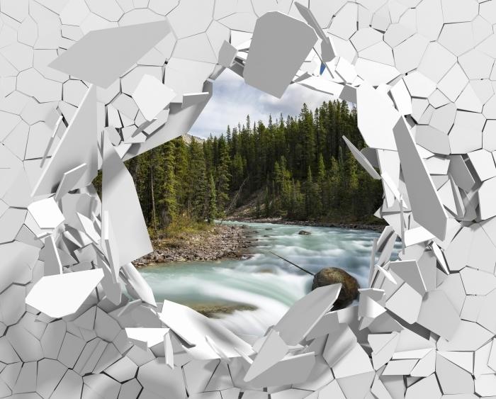 Vinyl Fotobehang Gat in de muur - Canada - Gaten in de muur