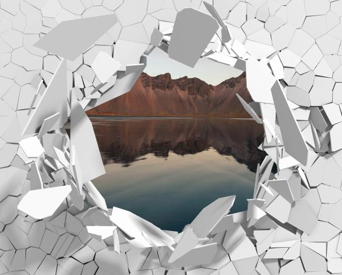 Fototapeta winylowa Dziura w ścianie - Wyspa - Dziury w ścianie