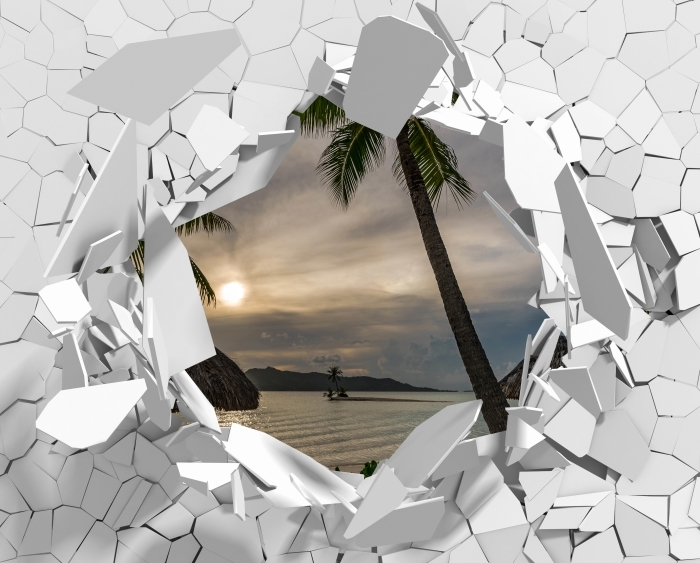 Vinyl Fotobehang Gat in de muur - Palma - Gaten in de muur