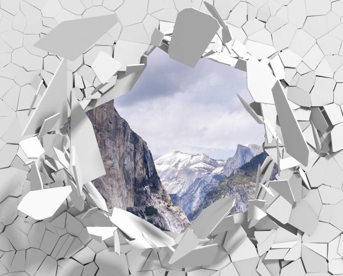 Fototapeta winylowa Dziura w ścianie - Park Narodowy Yosemite - Dziury w ścianie