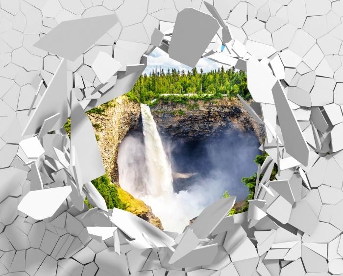 Fototapeta winylowa Dziura w ścianie - Góry. Kanada. - Dziury w ścianie