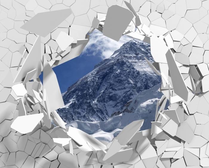 Vinylová fototapeta Díra ve zdi - Mount Everest - Vinylová fototapeta
