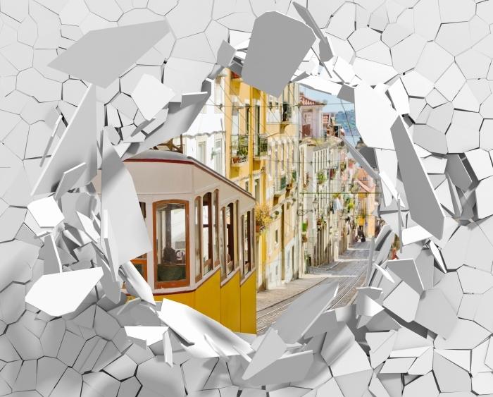 Papier peint vinyle Trou dans le mur - Lisbonne. - Les trous dans le mur