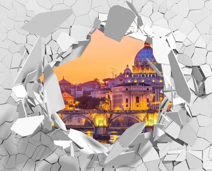 Fototapeta winylowa Dziura w ścianie - Katedra Świętego Piotra. Rzym - Dziury w ścianie