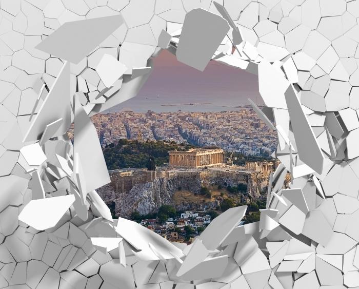 Fototapeta winylowa Dziura w ścianie - Partenon. Grecja - Dziury w ścianie