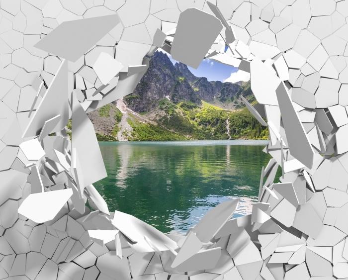 Vinyl-Fototapete Loch in der Wand - Tatry - Durchbruch in der Wand