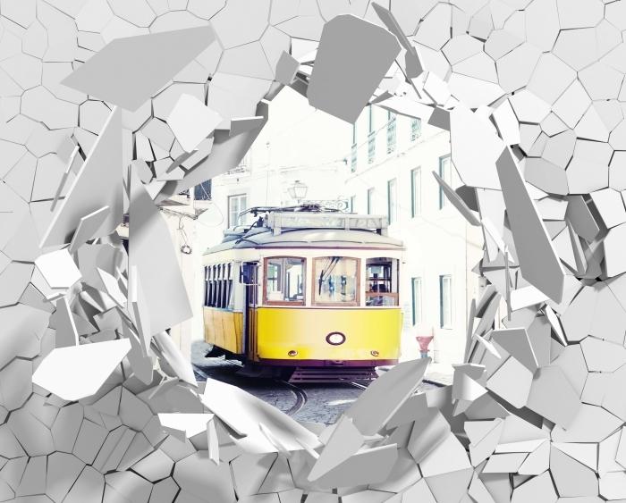 Fototapeta winylowa Dziura w ścianie - Lizbona - Dziury w ścianie