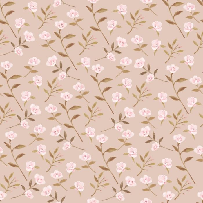 Camellia garden on the creamy background - Nina Ho Pixerstick Sticker - Contemporary artists