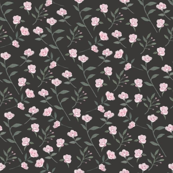 Little camellia garden - Nina Ho Vinyl Wall Mural - Contemporary artists